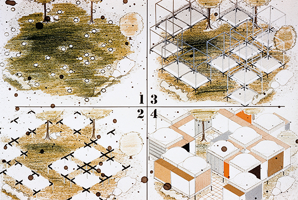 エクスペリメンタル・ハウスのための組立説明図 1957 頃 Mounting instructions for Experimental House, ca. 1957 Photo: Vitra Design Museum Archiv
